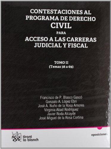 9788499850672: Contestaciones al programa de derecho civil Tomo II para acceso a las carreras judicial y fiscal
