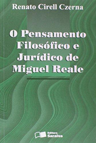 9788502026124: O pensamento filosófico e jurídico de Miguel Reale (Portuguese Edition)