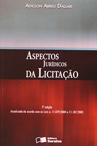 9788502055728: Aspectos Juridicos Da Licitacao (Em Portuguese do Brasil)