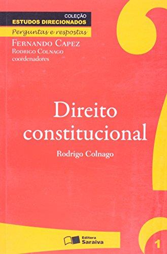 9788502085176: Direito Constitucional. Perguntas e Respostas -Volume 1. Coleção Estudos Direcionados (Em Portuguese do Brasil)