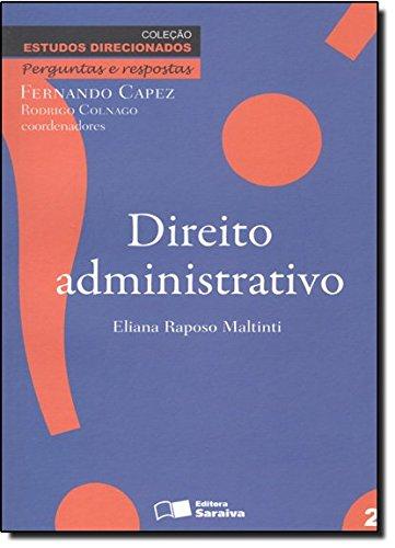 9788502095182: Estudos Direcionados - Direito Administrativo (Em Portuguese do Brasil)