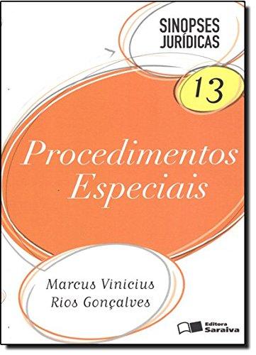 9788502106581: Procedimentos Especiais. Sinopses Jurídicas - Volume 13 (Em Portuguese do Brasil)