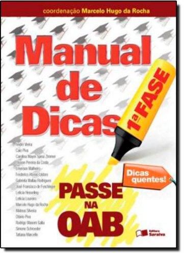 9788502154629: Manual de Dicas - Coleção Passe na OAB 1ª Fase