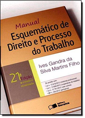 9788502199484: Manual Esquemático de Direito e Processo do Trabalho