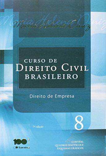 9788502619111: Curso de Direito Civil Brasileiro: Direito de Empresa - Vol.8