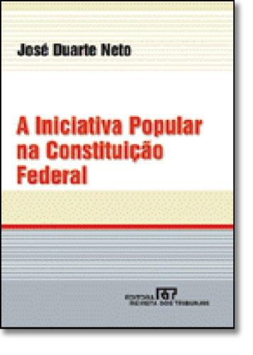 9788520326565: A Iniciativa Popular na Constituição Federal (Em Portuguese do Brasil)
