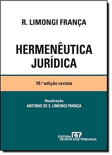 9788520342169: Hermeneutica Juridica