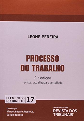 9788520346891: Processo do Trabalho - Vol.17 - Colecao Elementos do Direito