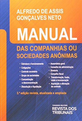 9788520347461: Manual das Companhias ou Sociedades An™nimas