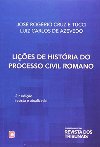 9788520348635: Licoes de Historia do Processo Civil Romano