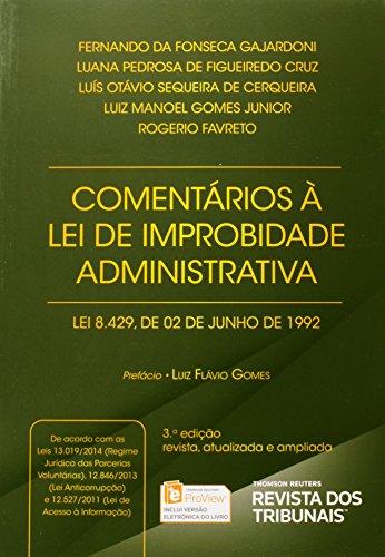 9788520353585: Comentarios a Lei de Improbidade Administrativa Lei 8.429-1992