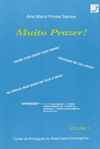 9788522002559: Muito Prazer! - V. 01 - Curso De Portugues Do Brasil Para Estrangeiros (Em Portuguese do Brasil)