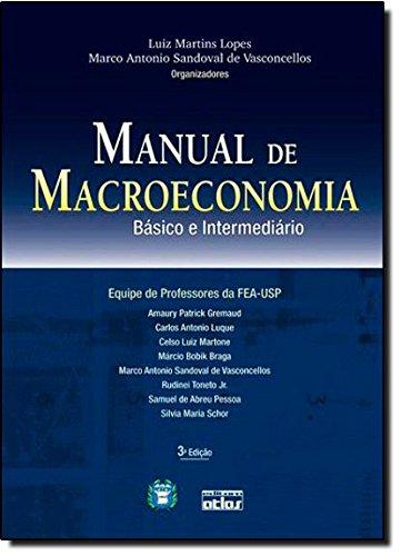 9788522450572: Manual de Macroeconomia. Básico e Intermediário (Em Portuguese do Brasil)