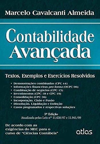 9788522477685: Contabilidade Avancada: Textos, Exemplos e Exercicios Resolvidos