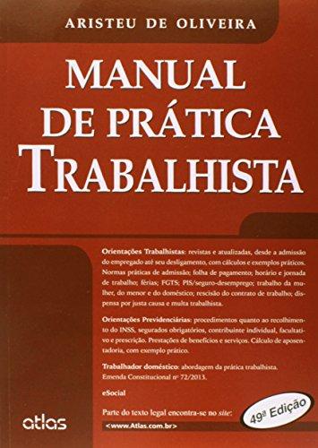 9788522490820: Manual de Pratica Trabalhista - 2014