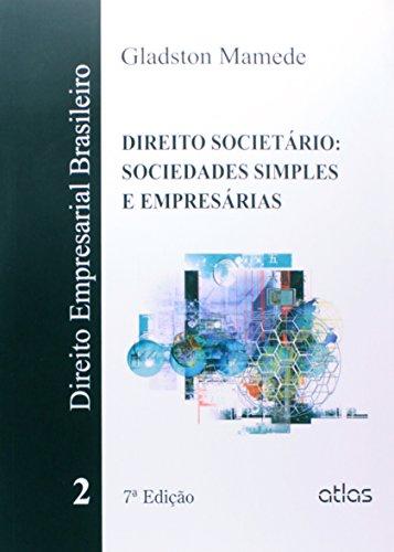 9788522493029: Direito Empresarial Brasileiro: Direito Societario - Sociedades Simples e Empresarias - Vol.2