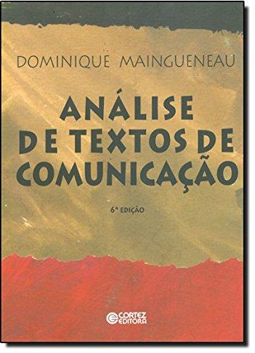 9788524917424: Analise De Textos De Comunicacao (Em Portuguese do Brasil)