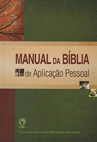 9788526311299: Manual da Biblia de Aplicação Pessoal