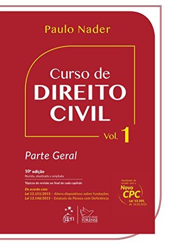 9788530963552: Curso de Direito Civil: Parte Geral - Vol.1