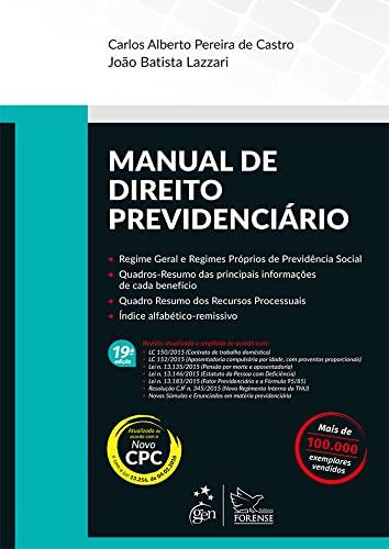 9788530967925: Manual de Direito Previdenciário (Em Portuguese do Brasil)