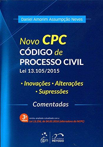 9788530969332: Novo Cpc: Codigo de Processo Civil - Lei 13.105-2015