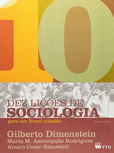 9788532268129: Dez Licoes De Sociologia Para Um Brasil Cidadao (Em Portuguese do Brasil)