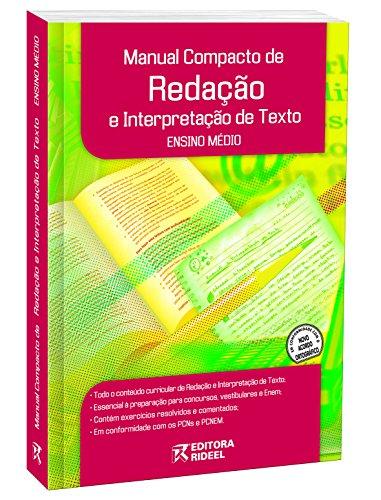 9788533916654: Manual Compacto de Redacao e Interpretacao de Texto - Colecao Manuais Compactos Rideel