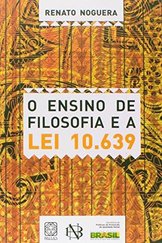 9788534705264: Ensino de Filosofia e a Lei 10.639 (Em Portuguese do Brasil)