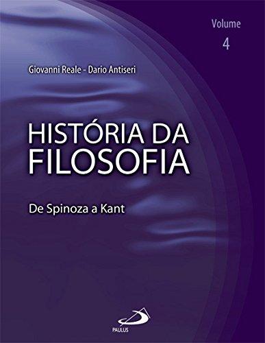 9788534922555: Historia da Filosofia: De Spinosa a Kant - Vol.4