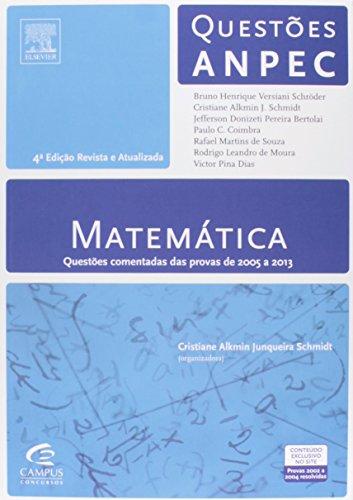 9788535277623: Matemática. Questões ANPEC (Em Portuguese do Brasil)