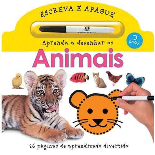 9788538034018: Aprenda a Desenhar os Animais - Coleção Escreva e Apague (Em Portuguese do Brasil)