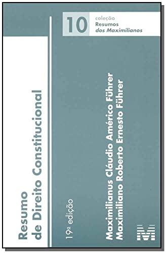 9788539203000: Resumo de Direito Constitucional. 2015 - Volume 10. Coleção Resumos dos Maximilianos (Em Portuguese do Brasil)
