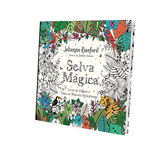 9788543103822: Selva Mágica. Livro de Colorir e Caça ao Tesouro Antiestresse (Em Portuguese do Brasil)