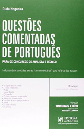 9788544202562: Questoes Comentadas de Portugus: Para Analista e Tecnico - Colecao Tribunais e Mpu