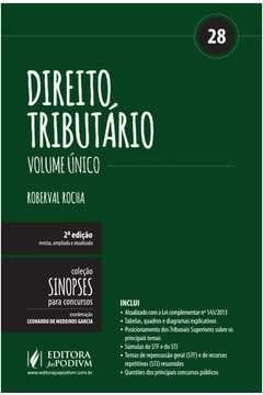 9788544202821: Direito Tributario: Volume unico - Vol.28 - Colecao Sinopses Para Concursos