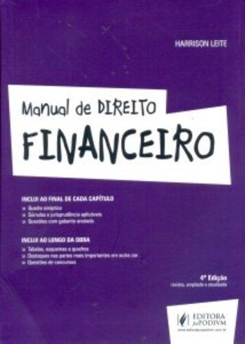 9788544203378: Manual de Direito Financeiro