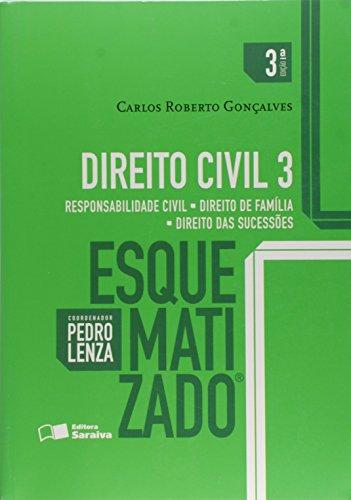 9788547202132: Direito Civil. Responsabilidade Civil, Direito de Família, Direito das Sucessões - Volume 3. Coleção Esquematizado (Em Portuguese do Brasil)
