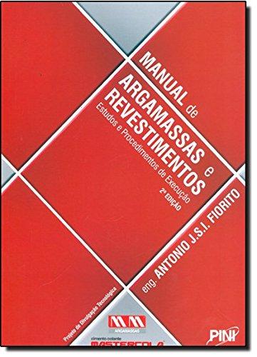 9788572661898: Manual De Argamassas E Revestimentos