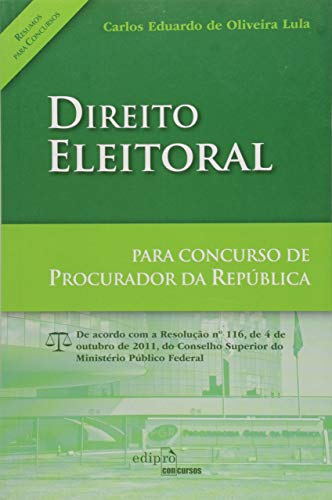9788572837378: Direito Eleitoral: Para Concurso de Procurador da Republica