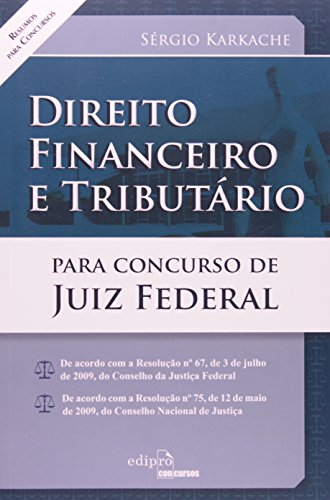 9788572837422: Direito Financeiro e Tributario Para Concurso de Juiz Federal