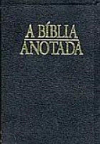 9788573251463: A Bíblia Anotada. Preta-Dourada (Em Portuguese do Brasil)