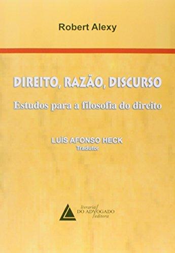 9788573486490: Direito Razão Discurso Estudos Para Filosofia do Direito