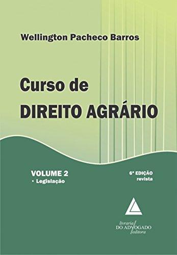 9788573489651: Curso de Direito Agrário. Legislação - Volume 2 (Em Portuguese do Brasil)