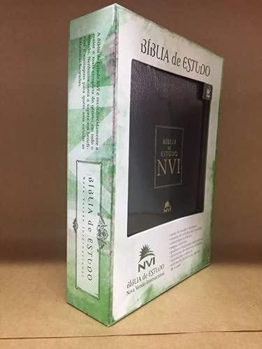 9788573677621: Bíblia De Estudo NVI Luxo Preta