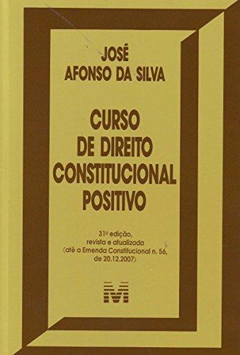 9788574208916: Curso de Direito Constitucional Positivo