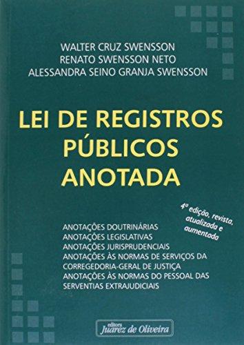 9788574535777: Lei de Registros Publicos Anotada