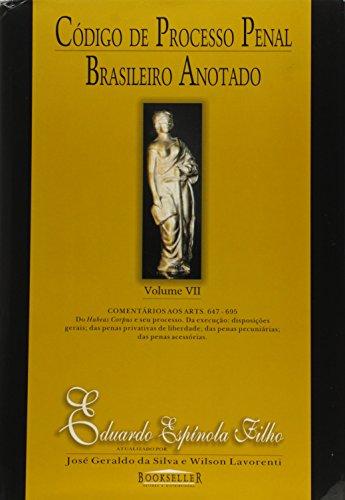 9788574680446: Código de Processo Penal Brasileiro Antado - Volume 7 (Em Portuguese do Brasil)