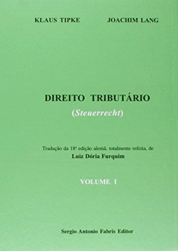 9788575254653: Direito Tributario (Steuerrecht) - V. 01 (Em Portuguese do Brasil)