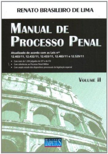 9788576266341: Manual de Processo Penal - Vol.2