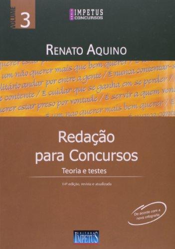 9788576266945: Redacao Para Concursos: Teoria e Testes - Vol.3